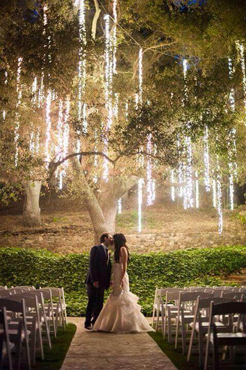 Who could not even ponder some night wedding ideas when the offer for creative ideas are so appealing... For more wedding ideas go to wedwithbliss.com